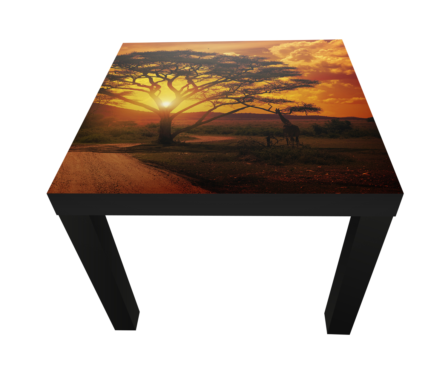 beistelltisch afrika sonnenuntergang designtisch m0001 ebay. Black Bedroom Furniture Sets. Home Design Ideas