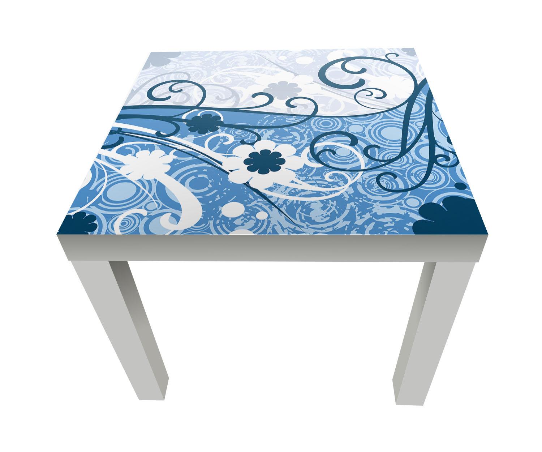 beistelltisch laura floral bl ten designtisch m0059 ebay. Black Bedroom Furniture Sets. Home Design Ideas