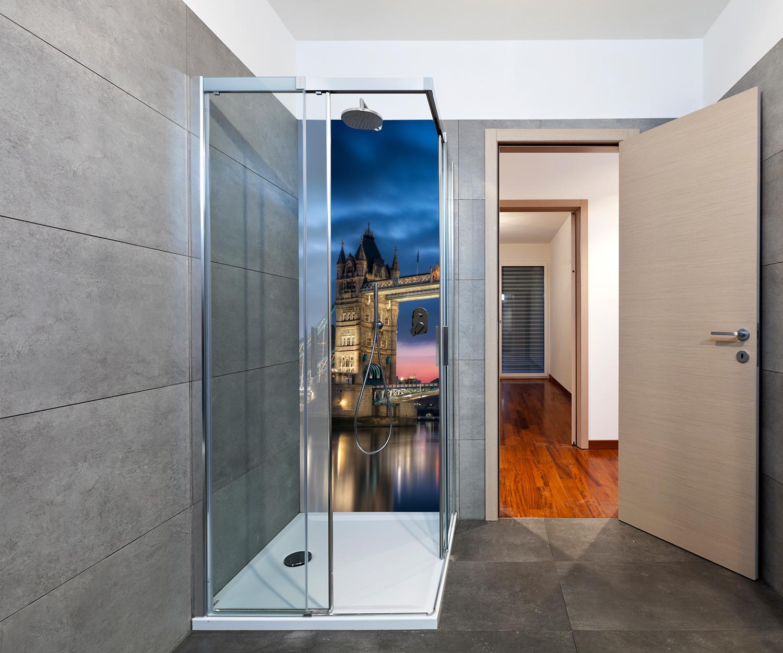 Duschr Ckwand Towerbridge London Deko Design M0267 Ebay