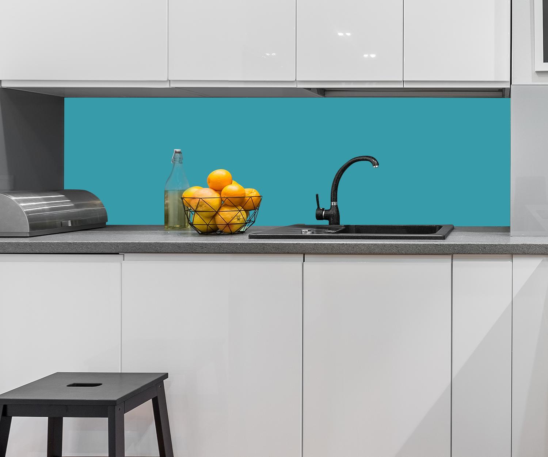 Küchenrückwand einfarbig Türkis Nischenrückwand Spritzschutz Design M0746