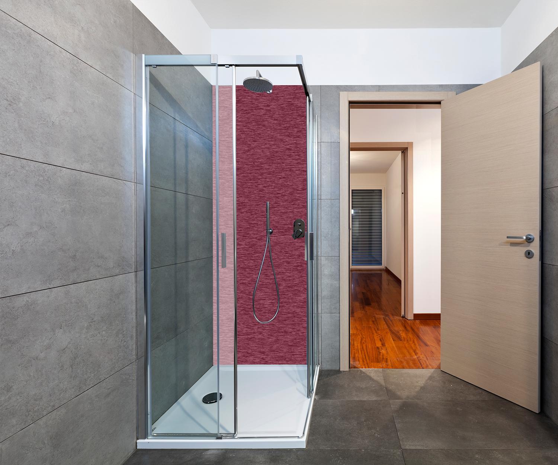 Details zu Duschrückwand einfarbig Bordeaux Deko Design M12