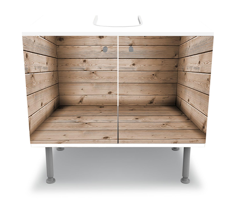 Künstlerisch Badunterschränke Ideen Von Badunterschrank-zimmer-aus-holzbohlen-designschrank-bad-m1055