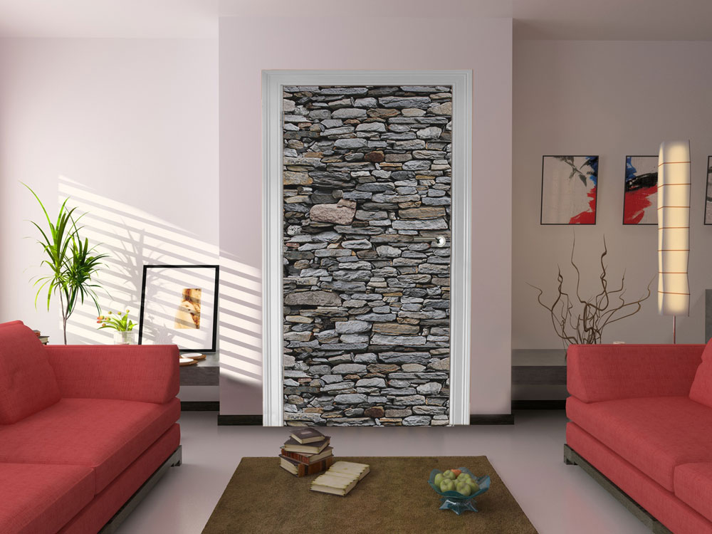 Fototapete steinmauer grau vlies tapete wandtapete ebay for Wandtapete grau