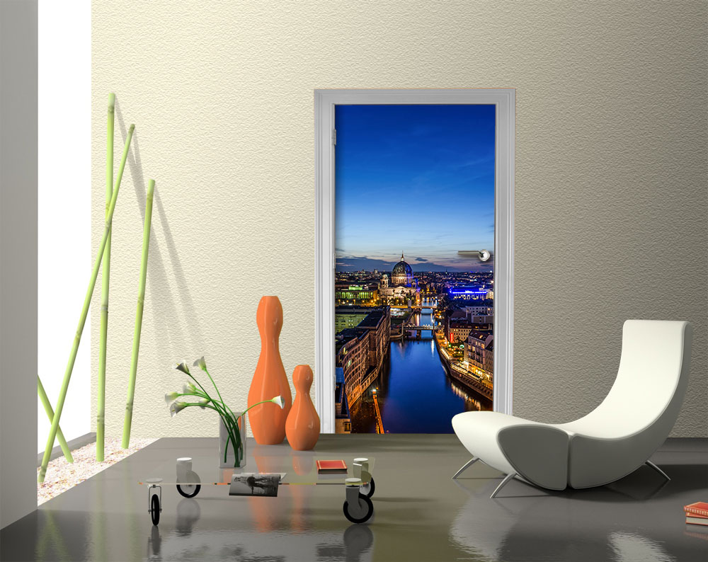 fototapete berlin bei nacht vlies tapete m0290 ebay. Black Bedroom Furniture Sets. Home Design Ideas