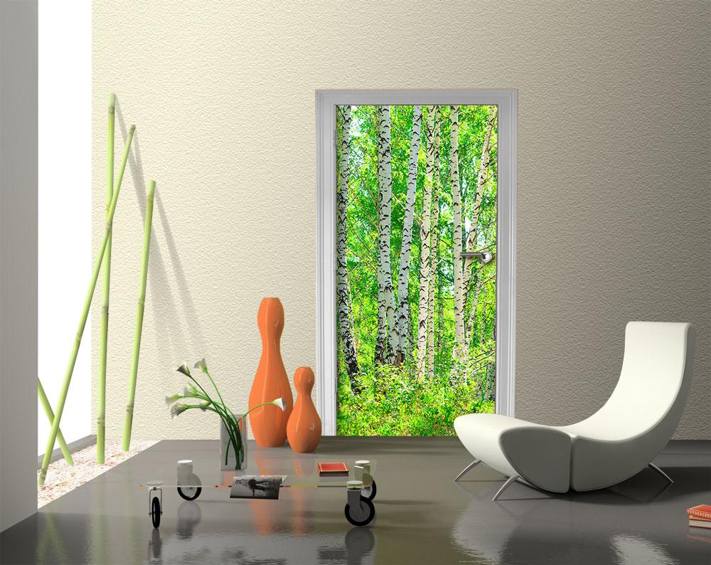 Fototapete birkenwald vliestapete wandtapete m0363 ebay for Tapete birkenwald