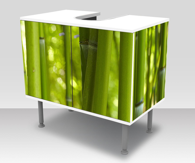 badunterschrank bambus designschrank bad m0003 ebay. Black Bedroom Furniture Sets. Home Design Ideas
