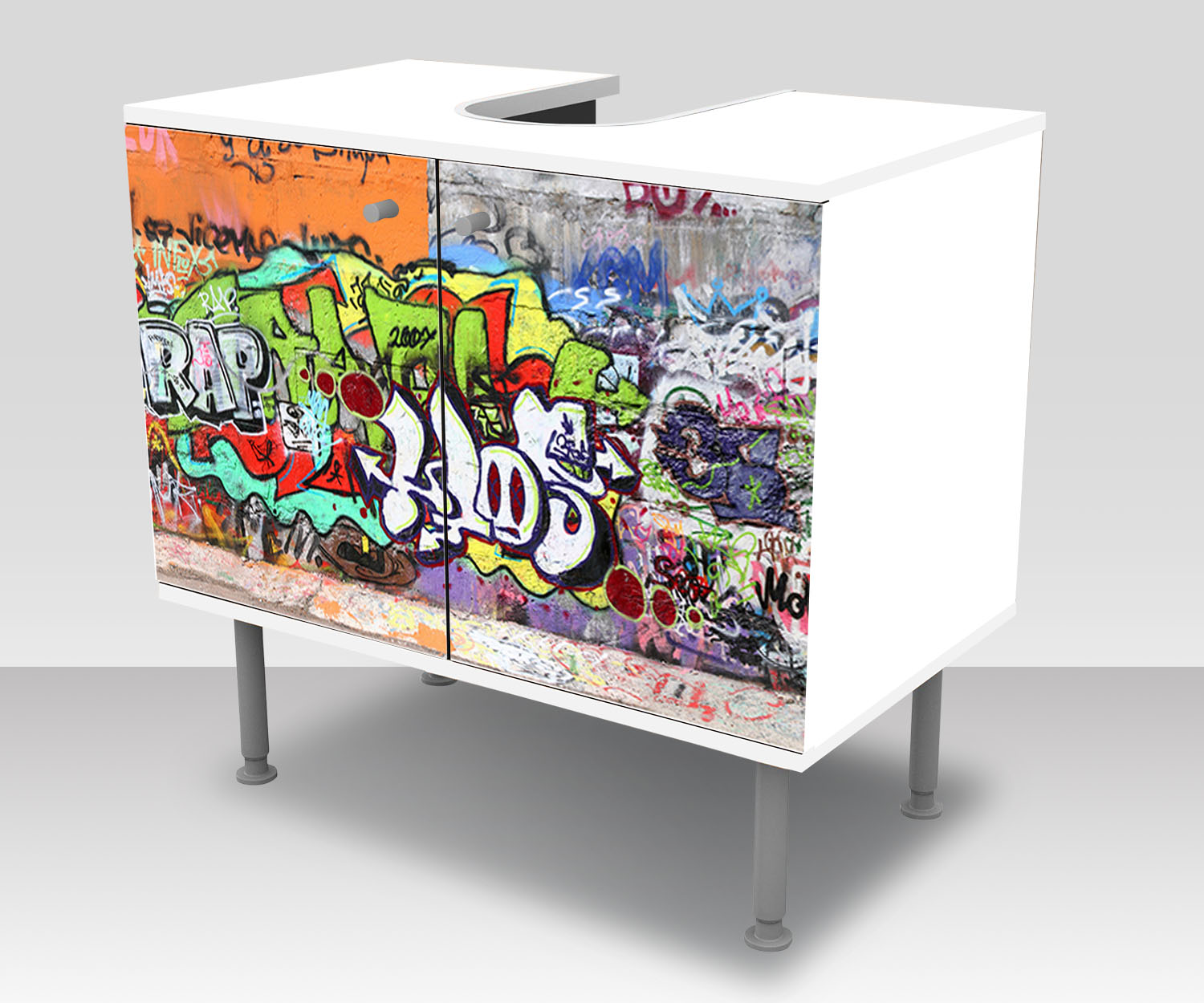 badunterschrank graffiti 2 designschrank bad m0026 ebay. Black Bedroom Furniture Sets. Home Design Ideas