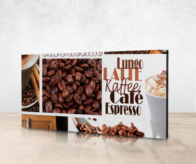 leinwandbild kaffee panoramabild kunstdrucke m0047 ebay. Black Bedroom Furniture Sets. Home Design Ideas