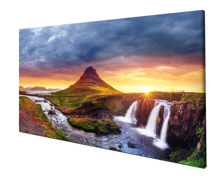 Island Panoramabild Kunstdrucke M1038 Leinwandbild Kirkjufell Berg