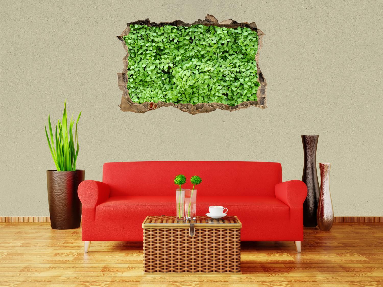 3D-Wandsticker Grüne Blätter Wand Aufkleber Mauerdurchbruch M1045